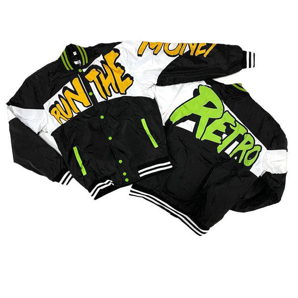 Retro Label Run the Money Jacket (Retro 1 Retro High OG Volt Gold)