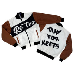 Retro Label Play for Keeps Jacket (Retro 1 Dark Mocha)
