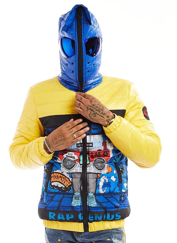 Reelistik Rap Genius Bubble Jacket (Yellow/Blue)