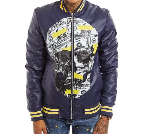 Reelistik Skull Jacket (Navy/Yellow)