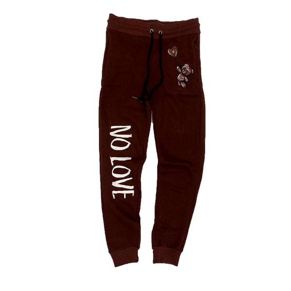 Retro Label No Love Joggers (Retro 1 Dark Mocha)