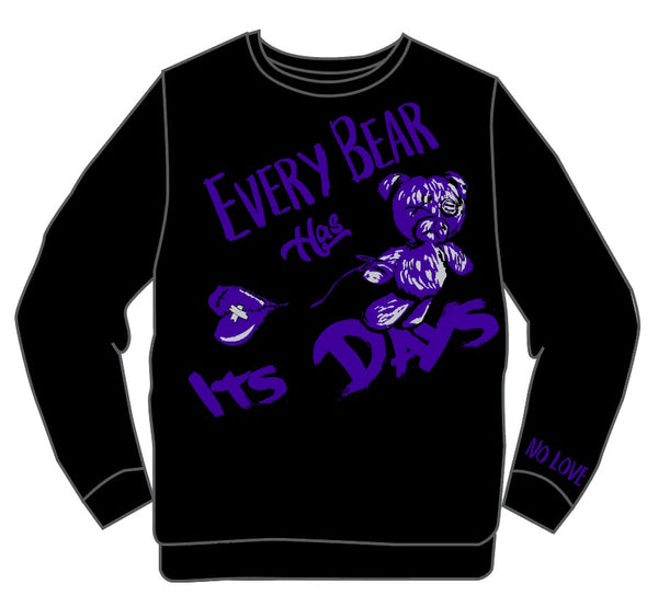 Retro Label Bear Days Crewneck (Retro 12 Dark Concord)