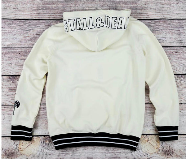 Stall & Dean All Over Patches Hoodie (Off White)