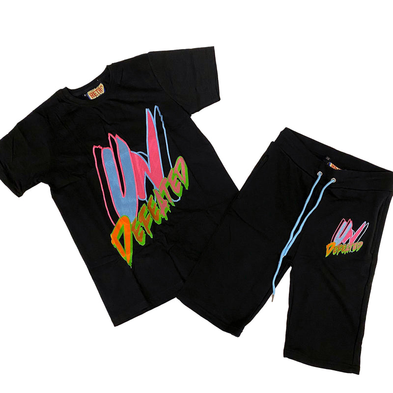 Retro Label Undefeated Shorts and Shirt Set (Multi)