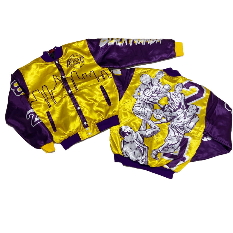 Retro Label Lakers Jacket (Yellow/Purple)