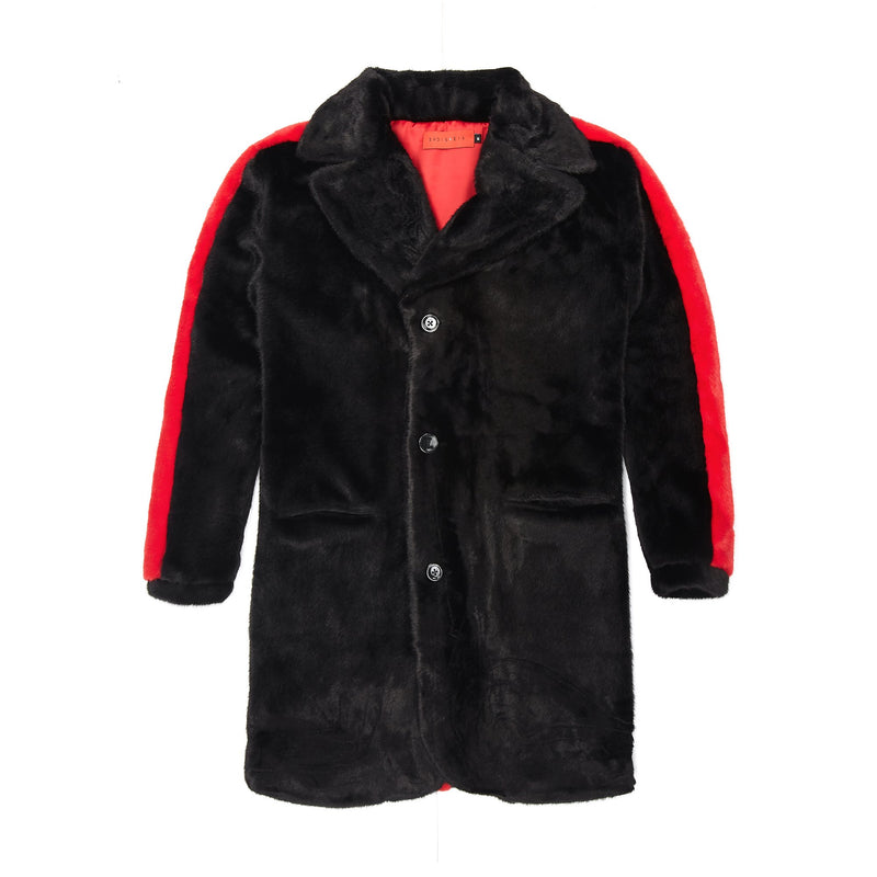 Vie Riche Teddy Bear Overcoat (Black)