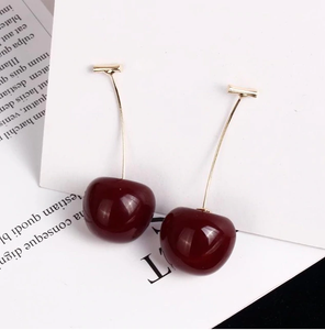Cute 3D Cherry Earrings