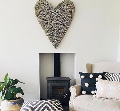 Olivia Large Wicker Heart *Pre order for delivery end of September*