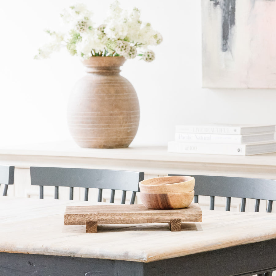 Stacked Natural Wooden Tray (Available in Two Sizes)