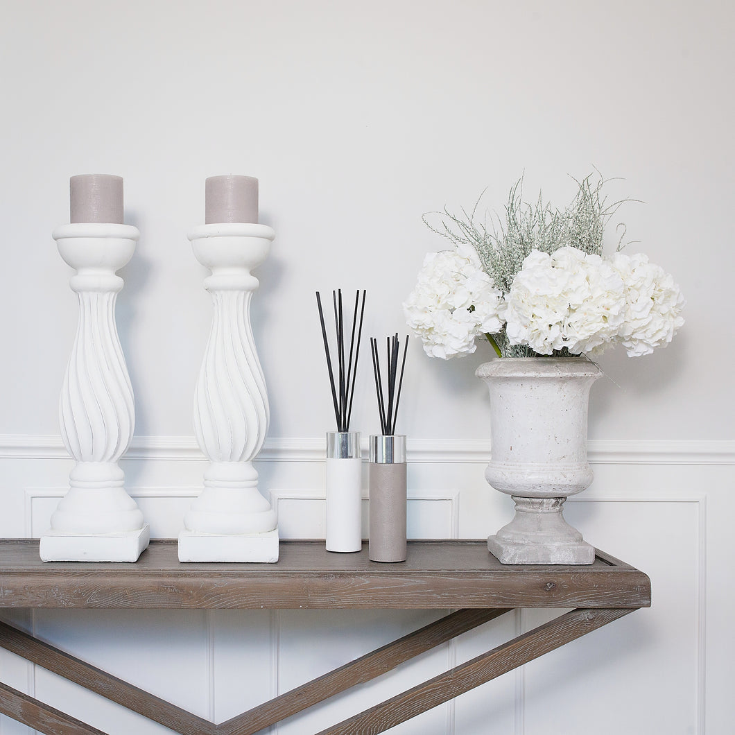Copenhagen Pillar Candlesticks (Pair) Now taking Pre Orders for October Delivery