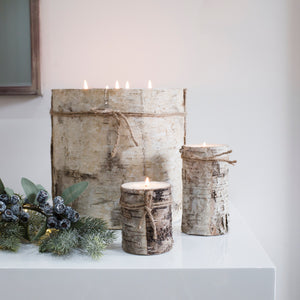 Birch Bark Candle (Available in Five Sizes)