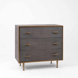Southampton Grey Shagreen Chest of Drawers