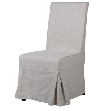 Linen Dining Chair Off White