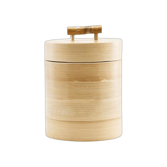 Bamboo Lidded Pot (Available in Two Sizes)