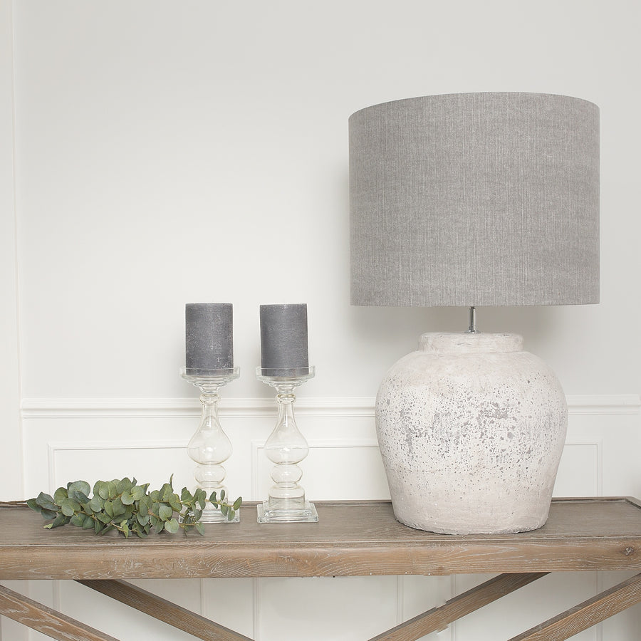 Cassius Stone Lamp Base (Available in Two Sizes)
