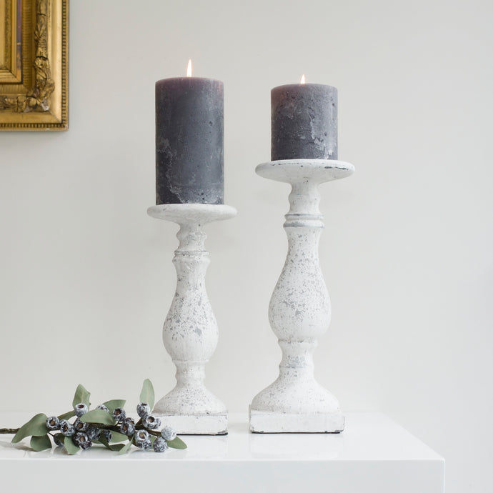 Kingham Stone Candlestick (Available in Two Sizes)