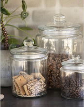 Load image into Gallery viewer, Prestbury Glass Storage Jars (Various Sizes)