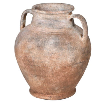 Antiqued Ceramic Urn Short
