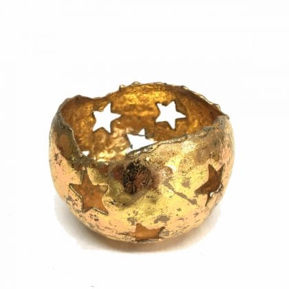 Gold Starry Tealight Holder (Available in Three Sizes)