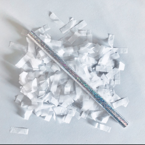 White Confetti Sticks