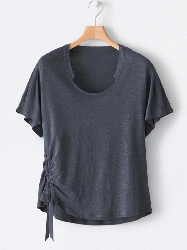Standard Plain Round Neck Slim Casual T-Shirt BS294