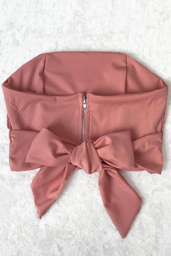 Chic Strapless Bandeau Crop Top BS60