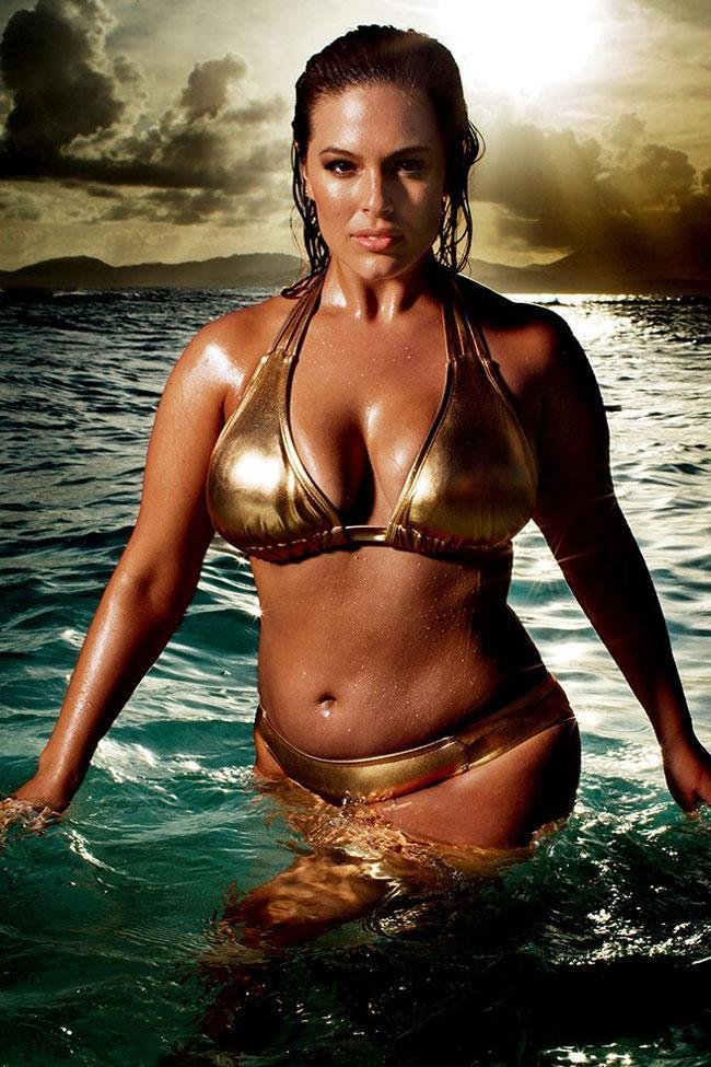 Metallic Halter Slide Triangle Plus Size Bikini Swimsuit SK0115