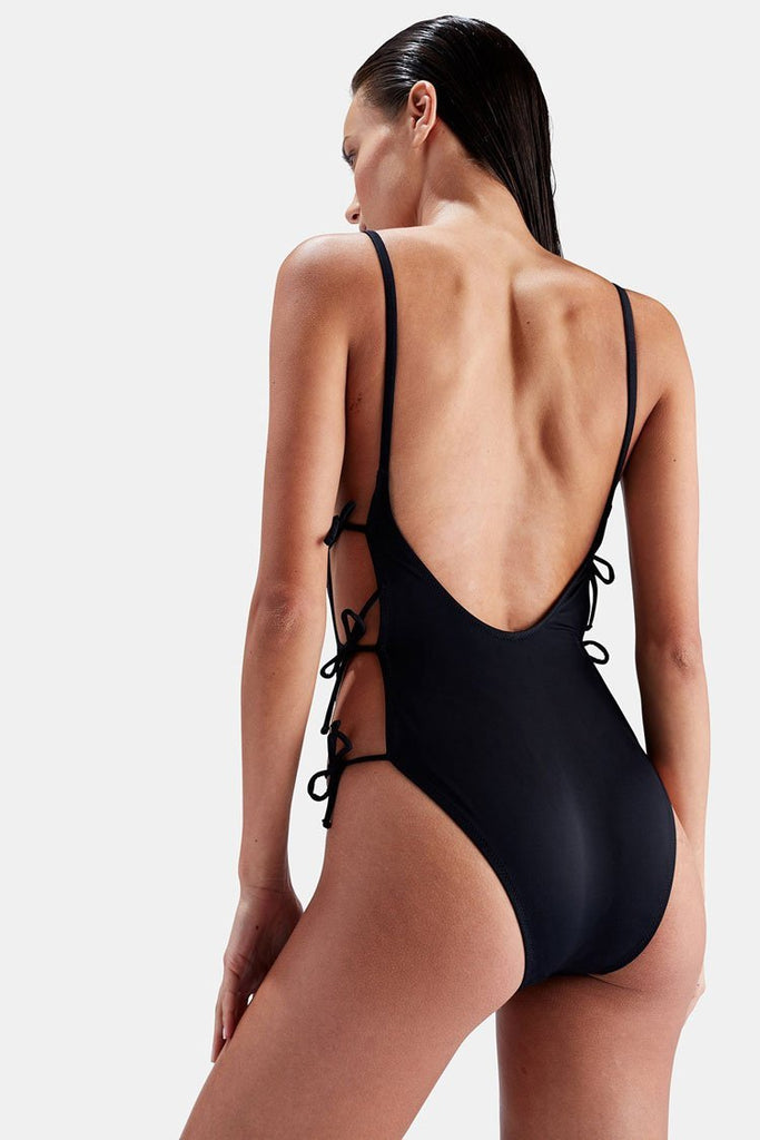 One Piece Sexy Low Back Tie String High Leg Cheeky OSwimsuit SO195