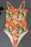 One Piece Colorful Palm Printed Swimsuit SO375