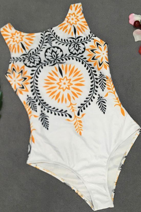 One Piece Bohemian Style High Neck Swimsuit SO064