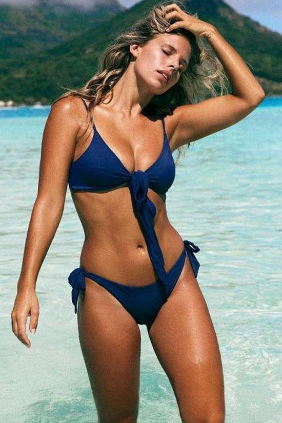 Simple Solid Spaghetti Straps Summer Swimsuit SB267