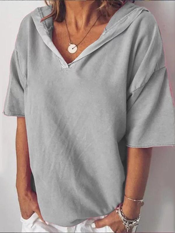 Plain Standard Half Sleeve Loose Casual T-Shirt BS156