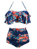 Vintage Two Piece Swimsuits High Waisted With Underwired Top