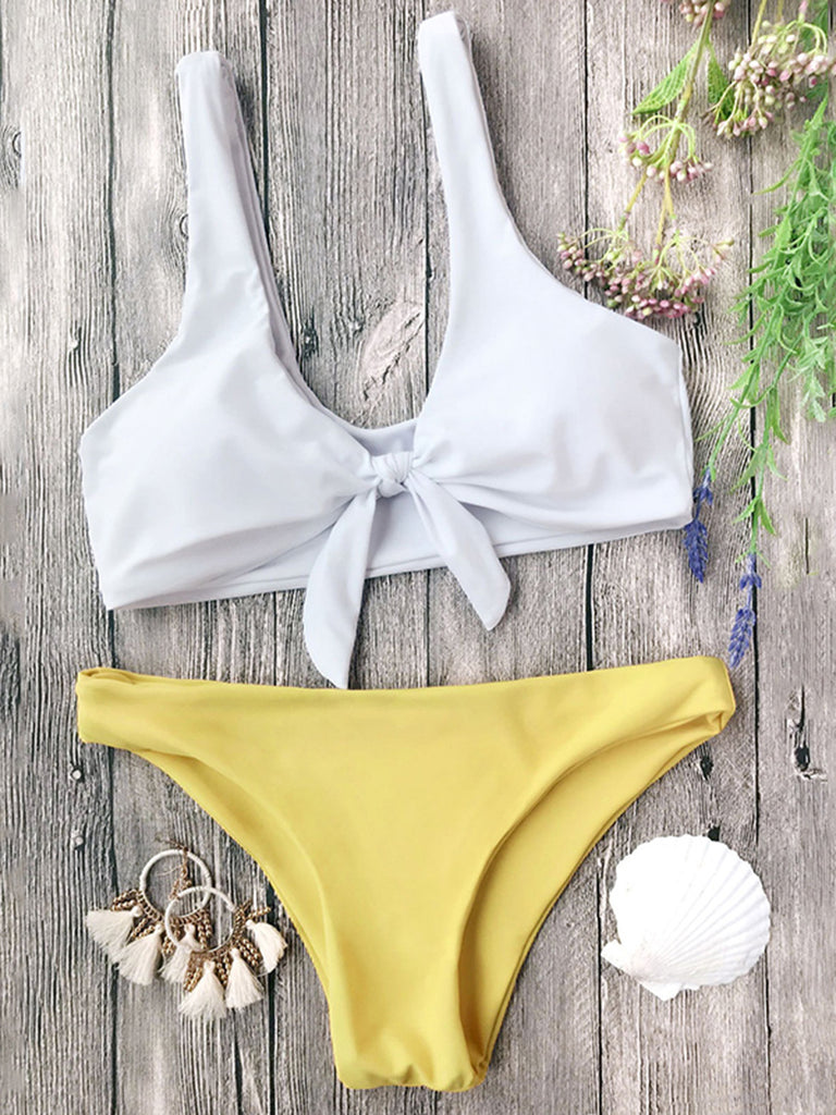 Women's Sexy Push Up Tie Front Bikini Set Two Piece Swimsuit