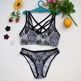 Woman's Two Pieces Bikini Sets Sports Swimsuit