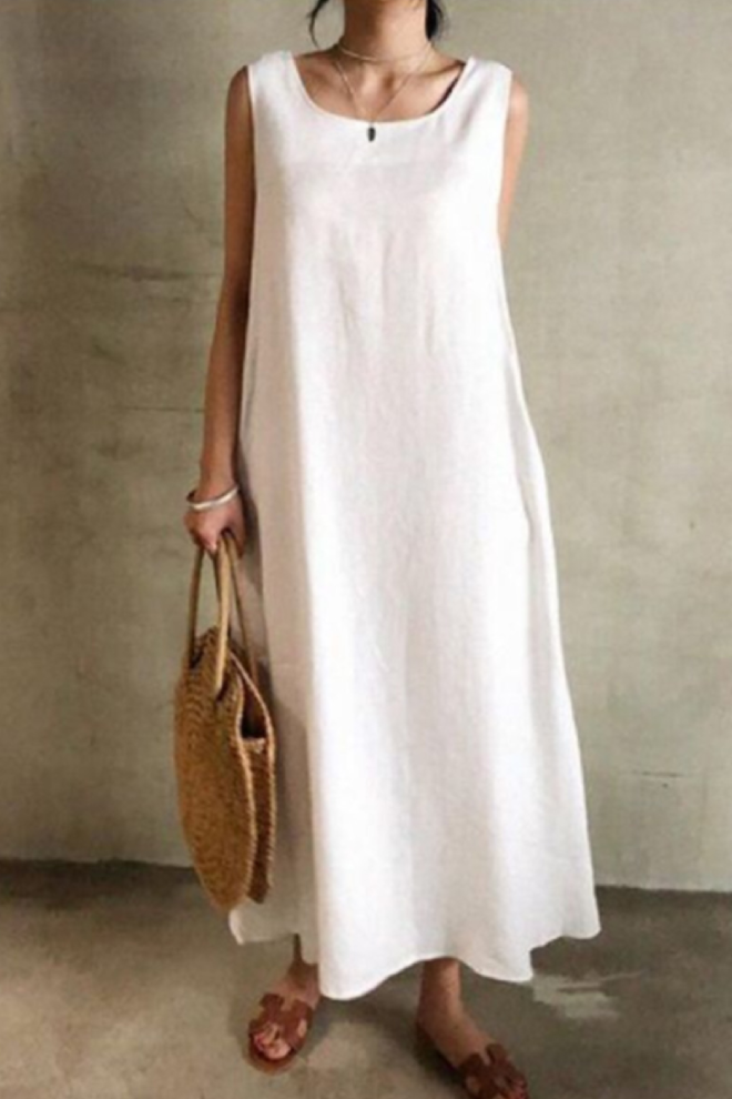 Sleeveless Ankle-Length Casual Dress  for Women