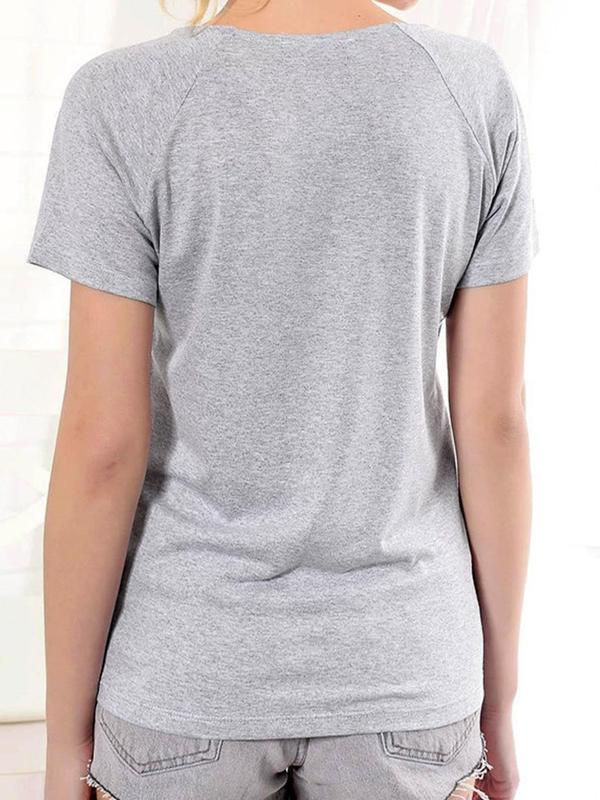 Standard Short Sleeve Color Block Slim Casual T-Shirt BS173