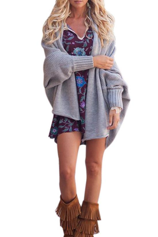 Batwing Sleeve Oversized Cardigan BS58