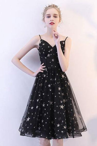 products/Black_V_Neck_Short_Prom_Dresses_Spaghetti_Straps_Knee_Length_Homecoming_Dress_with_Stars_H1061-2.jpg