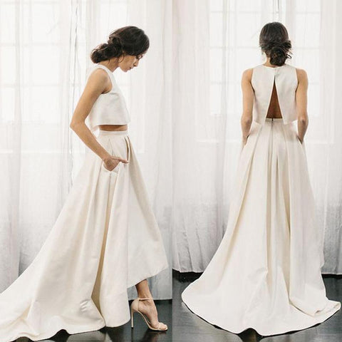 products/Chic_Two_Pieces_Satin_Ivory_High_Neck_High_Low_Wedding_Dresses_with_Pockets_Bridal_Dress_W1027-1.jpg
