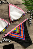 Colorful Tie Dye Triangle Bikini Sets Swimsuit SB89