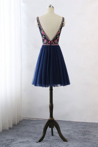 products/Dark_Blue_V_Neck_Lace_Tulle_Short_Prom_Dresses_Floral_Print_Backless_Homecoming_Dress_H1027-1.jpg