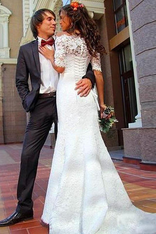 products/Mermaid_Lace_Appliques_Half_Sleeve_Ivory_Off_the_Shoulder_Wedding_Gowns_with_Lace_up_W1018-11.jpg