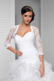 3/4 Sleeve Lace Wedding Cape White Lace Bridal Top, White Lace Wedding Jacket