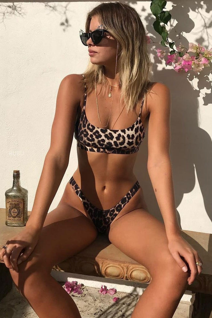 Sexy Scalloped Leopard Bikini Sets SB119
