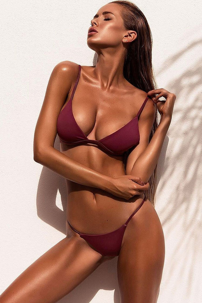 Sexy String Triangle Brazilian Thong Bikini Swimsuit SB72