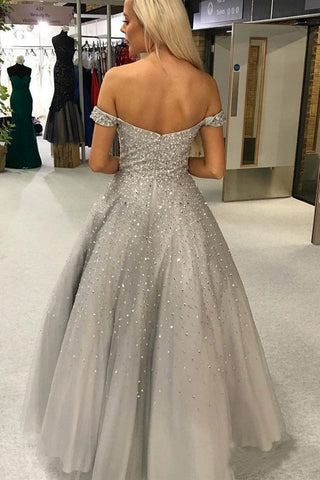 products/Shiny_Ball_Gown_Off_the_Shoulder_Sweetheart_Silver_Beaded_Tulle_Prom_Dresses_PW981-1.jpg