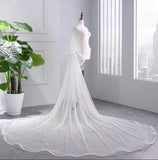 Princess Cheap Tulle Long Length Vintage Wedding Veils,Bridal Veils uk PW181