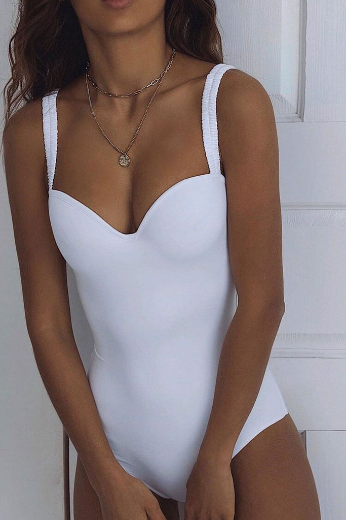 One Piece Sexy Sweetheart Push Up Underwire Swimsuit SO485