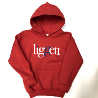 "Youth ""liggett"" Red Hoodie"